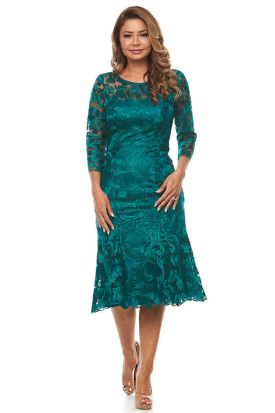Jesse Harper - Jade Flute Hem Formal Dress JH0255 - Pizazz Boutique