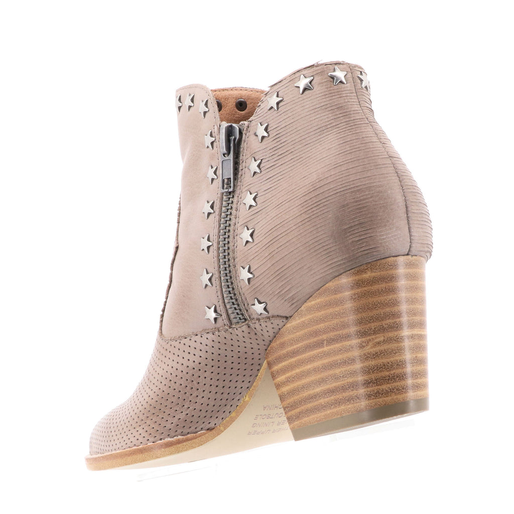 Silent D - What Ankle Boot - Smoke Blush Leather - Pizazz Boutique