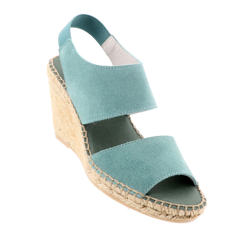 The Natural Shoe Company - Kate Strap Wedge - Green - Pizazz Boutique