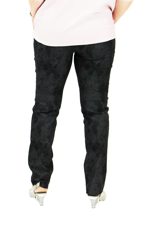 Up! Black with silver Print Black pants