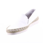Nerja Seta White Leather Loafer