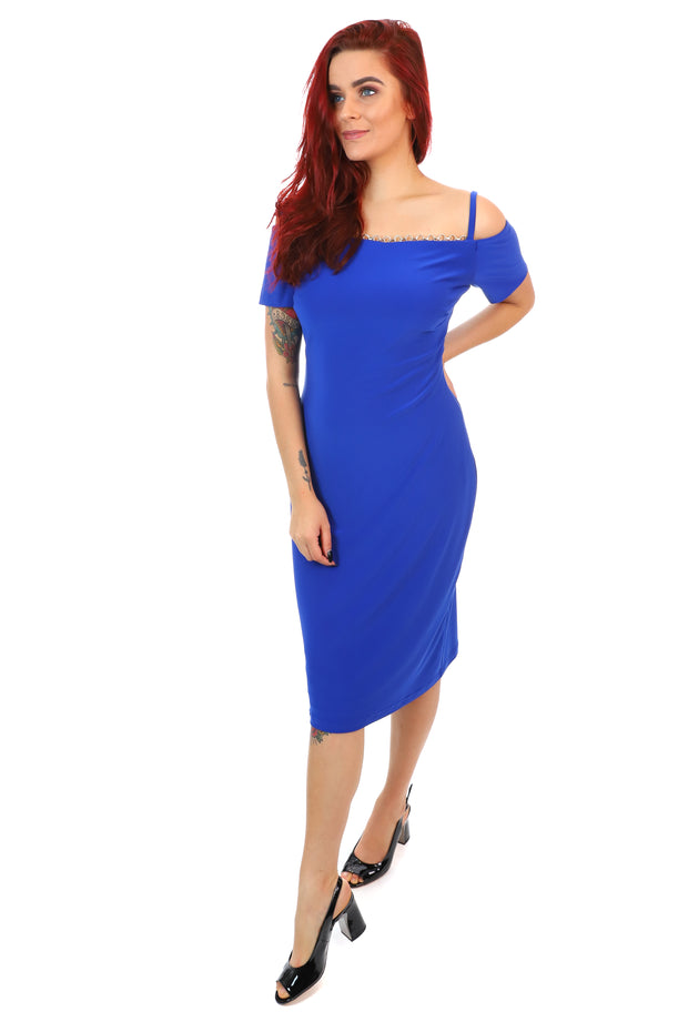 Chain Reaction Dress - Royal Blue