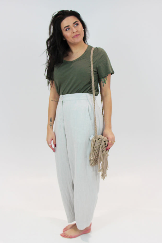Bond Street Ankle Pants (Feather)