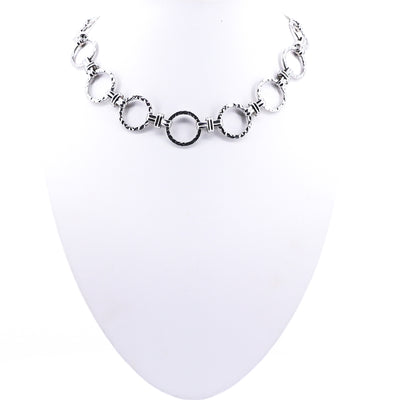 Chained Together Necklace - Silver