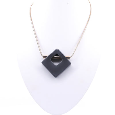 Cut Out Cube Necklace