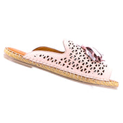 Kite Leather Espadrille - Rose Gold