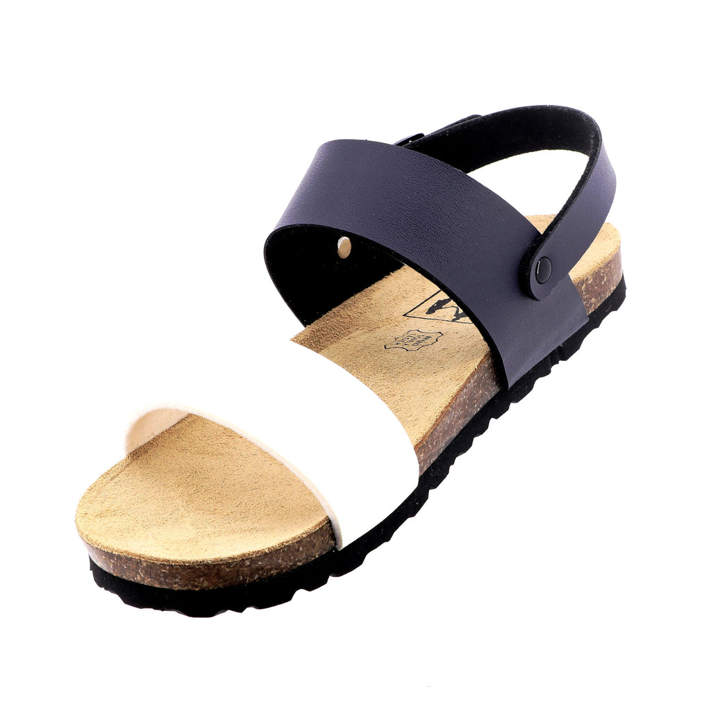 Byron Bay Shoe Co - Jasmin Sandals - Navy Ivory - Pizazz Boutique