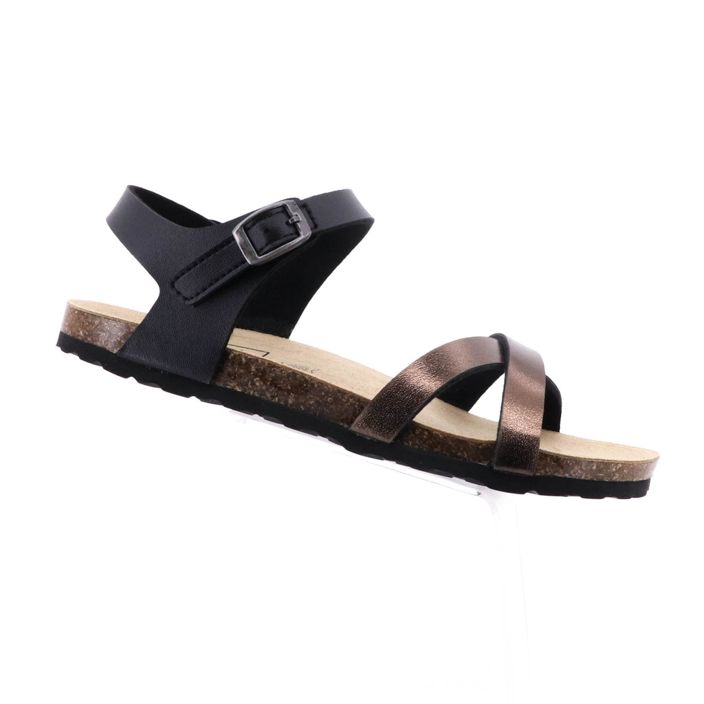Byron Bay Shoe Co - Mila Sandal - Black - Pizazz Boutique