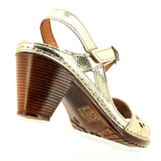Cabello Shoes - Becca Heels - Gold - Pizazz Boutique - Leather Heels
