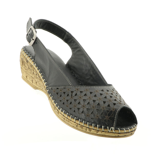 Shelly Wedge - Black