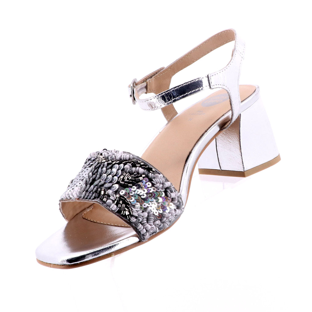 Gioseppo - Ivanna Heel - Silver High Heel Shoes - Pizazz Boutique