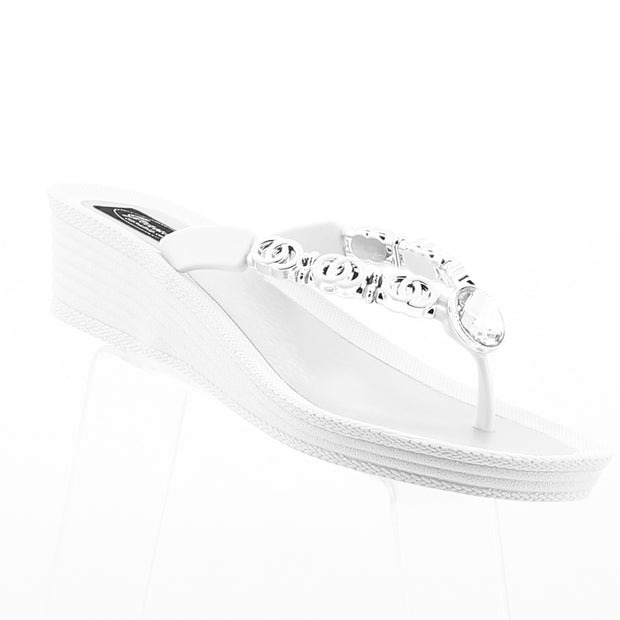 Locked Rings Wedge - White