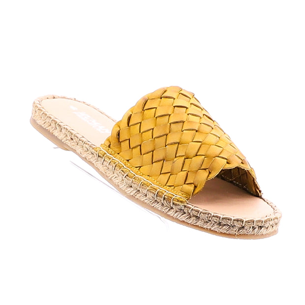 Chrissy Leather Slide - Mustard
