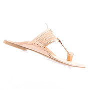 Shell Leather Sandal - Natural