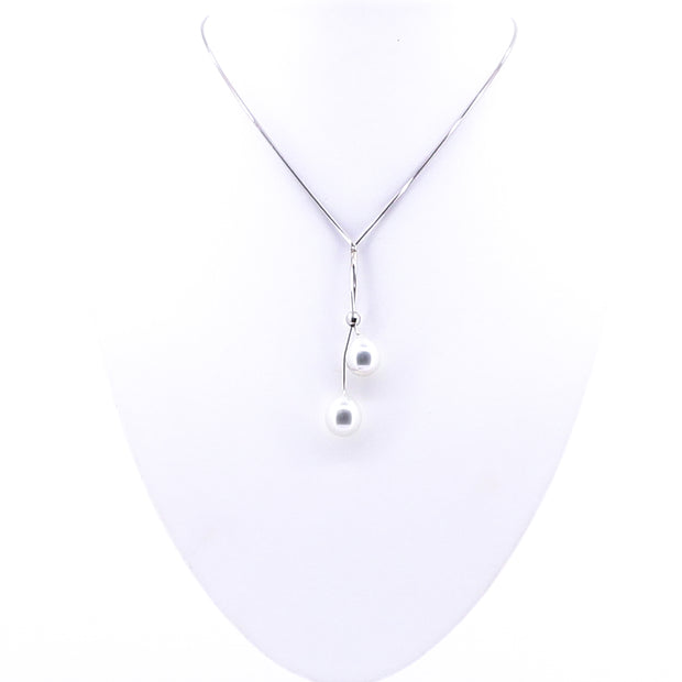 Simple Two Pearl Necklace