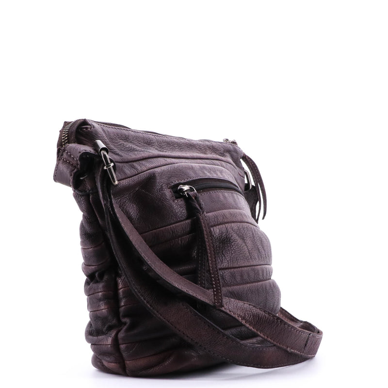 Provincial Leather Bucket Bag - Chocolate 3813