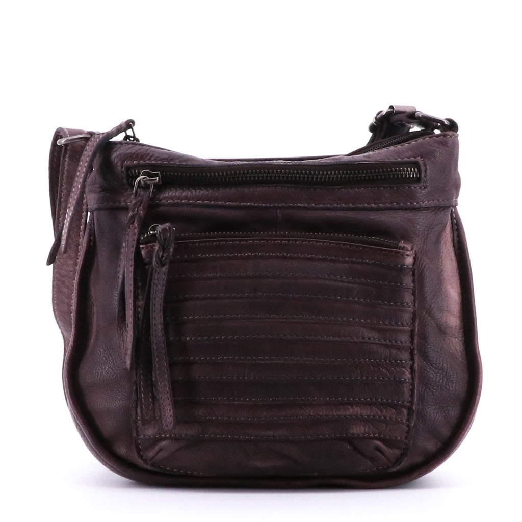 Provincial Leather Cross Body Bag - Chocolate 3813
