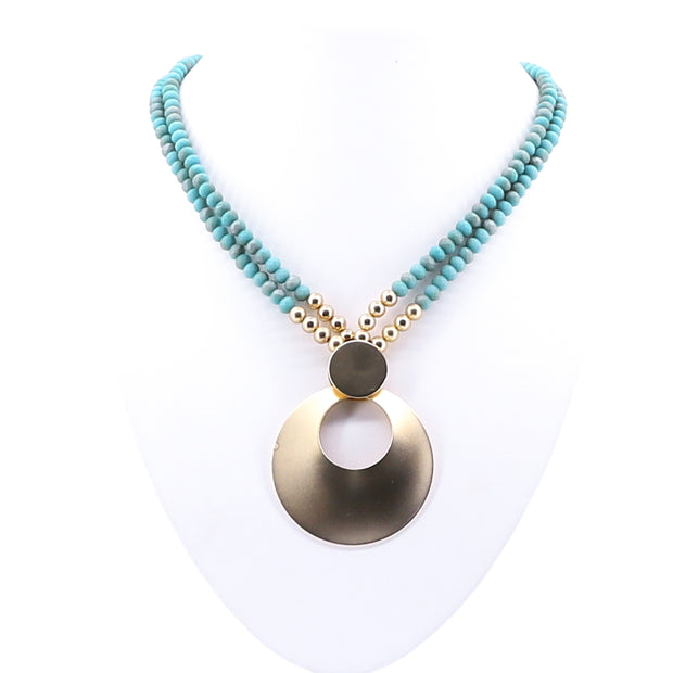 Teal Clam Necklace