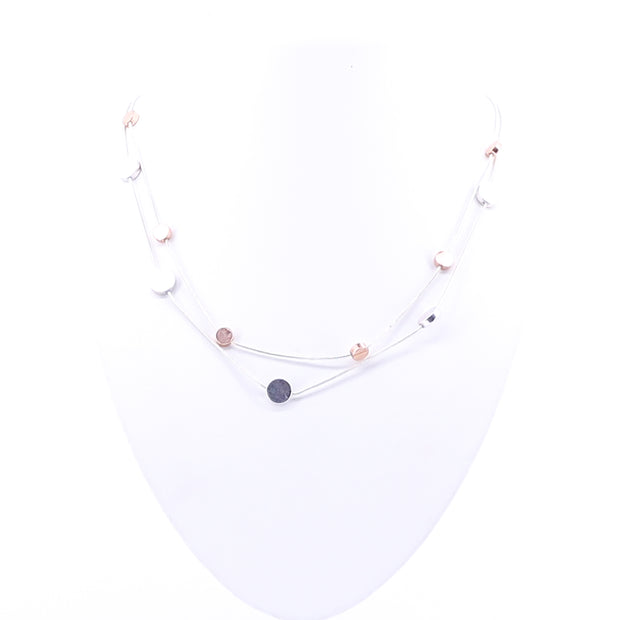Pink Or White Gold Necklace