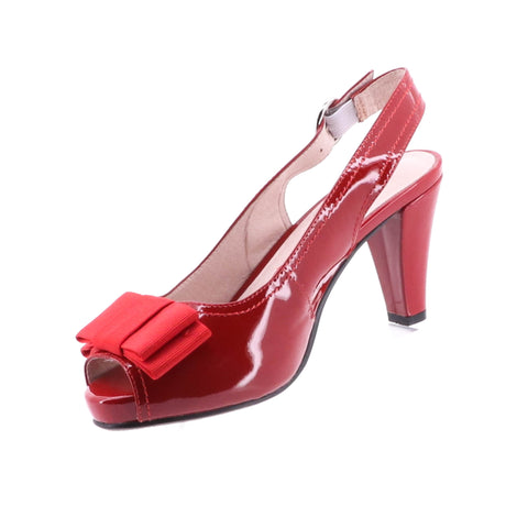 NEXUS Sling Back Patent Leather Shoe - Red