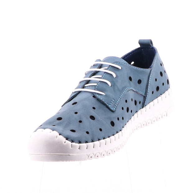 Thema Lace Up Shoe - Denim