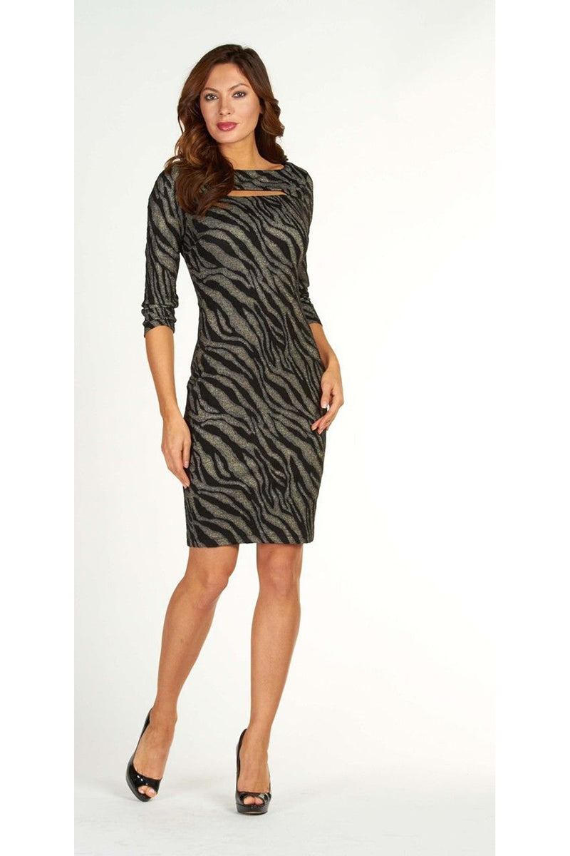 Frank Lyman Zebra Print Dress