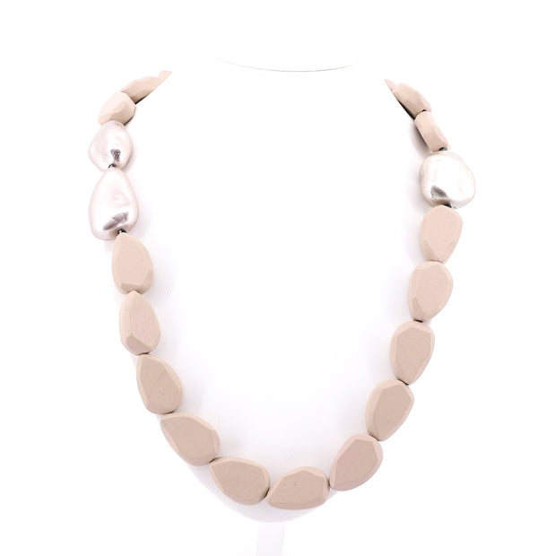 Stella Rose - Stone Necklace - Natural and Rose Gold - Pizazz Boutique