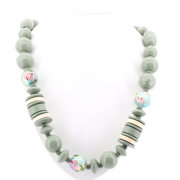 Stellar Rose - Jupiter Beaded Necklace - Green - Pizazz Boutique