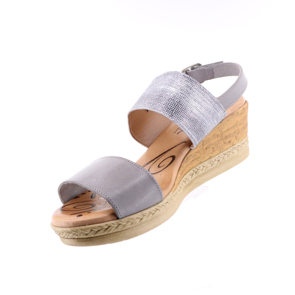 Sundowner - Cherry Grey Silver Wedges - Ladies Shoes - Pizazz Boutique