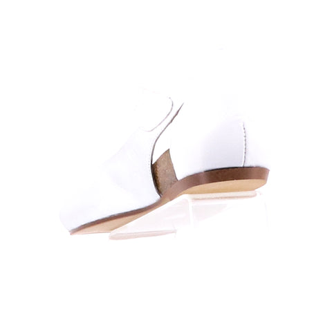 Couscous Leather Shoe - Silver & White
