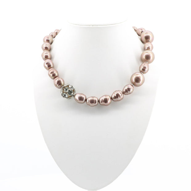 Mariah Beaded Dimond Clasp Necklace