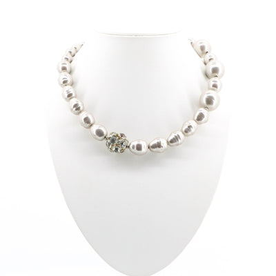 Touche - Abstract Cluster and Pearl Necklace - Pizazz Boutique