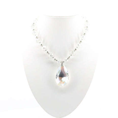 Pearls and Crystals Teardrop Pendant -C3