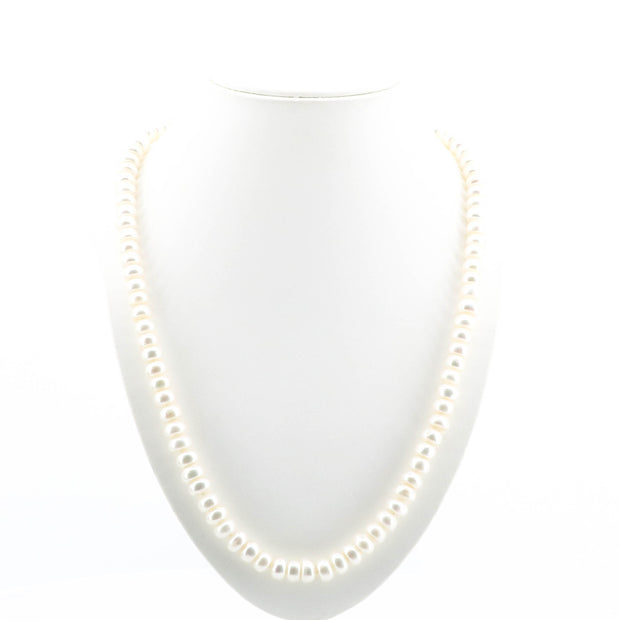 Beautiful Pearls Necklace with Diamante Clasp