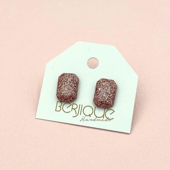 Penelope Small Studs - Rose