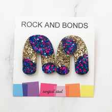 Load image into Gallery viewer, Archway Studs - Gold Mermaid