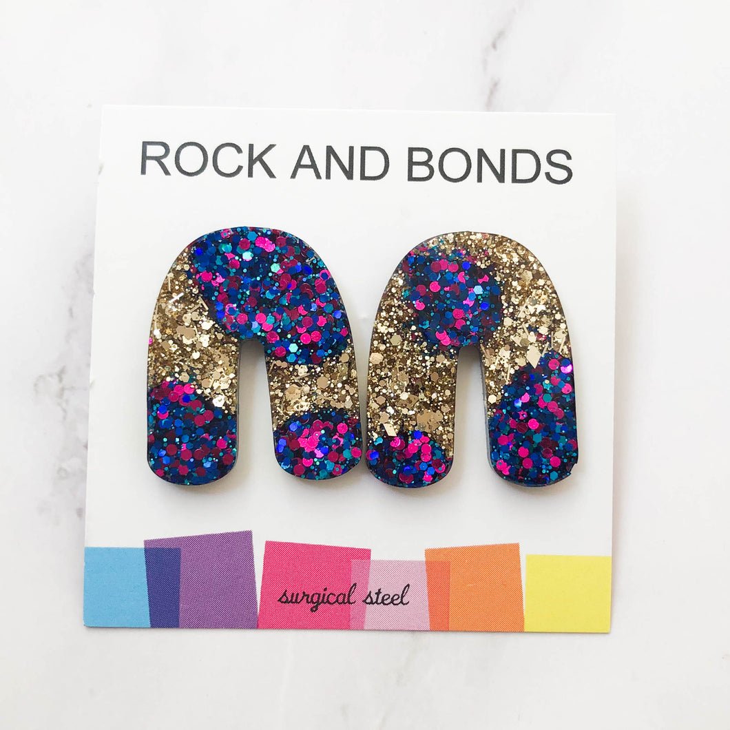 Archway Studs - Gold Mermaid