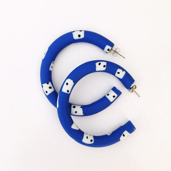Mega Blue Hoops