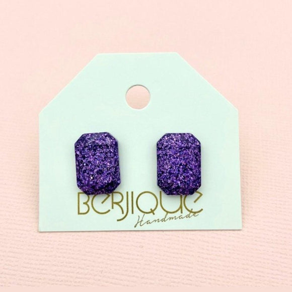 Penelope Small Studs - Amethyst