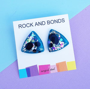 Triangle Studs - Real Teal