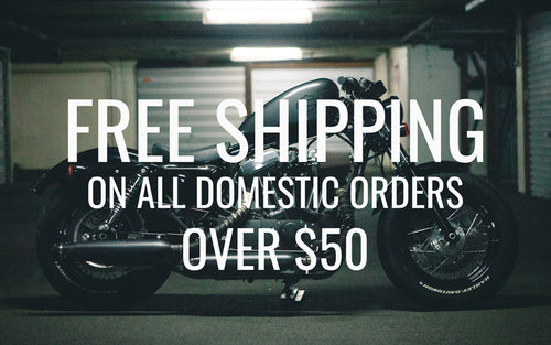 Free Domestic Shipping On Orders over $50