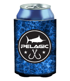 Pelagic Hexed Coozie - Blue - Fishing's Finest