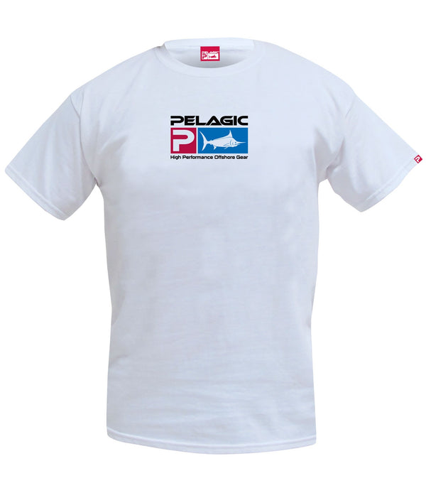 Pelagic Deluxe Logo Tee - White - Fishing's Finest