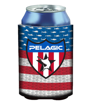Pelagic Americano Coozie - Blue - Fishing's Finest
