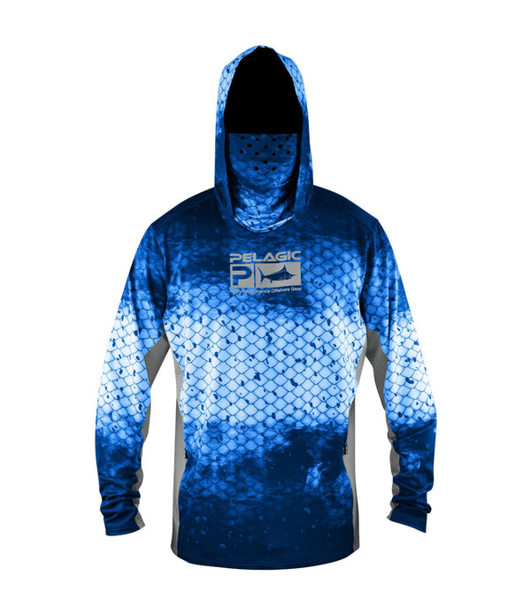 Pelagic Gear Exo Tech Hoody - Dorado Blue - Fishing's Finest