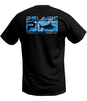 Pelagic Deluxe Print Tee - Ambush Black - Fishing's Finest