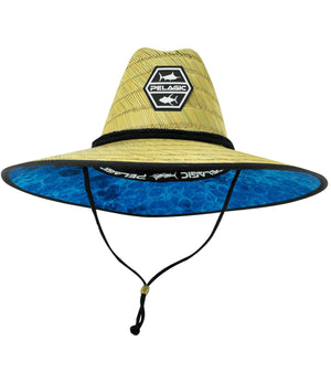 Pelagic Baja Straw Sunhat - Hex Blue - Fishing's Finest