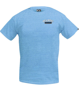 Pelagic Marlin Co Tee - Heather Lite Blue - Fishing's Finest