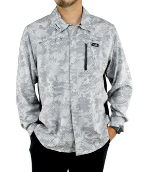 Pelagic Eclipse Guide Shirt Pro - Ambush Grey - Fishing's Finest