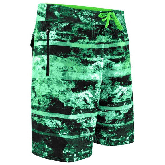 Pelagic Argonaut Boardshort - Coral Camo Green - Fishing's Finest